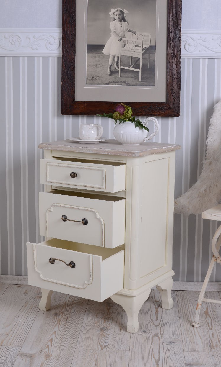 Armoire de nuit style rustique table de chevet table de for Table de nuit anglais