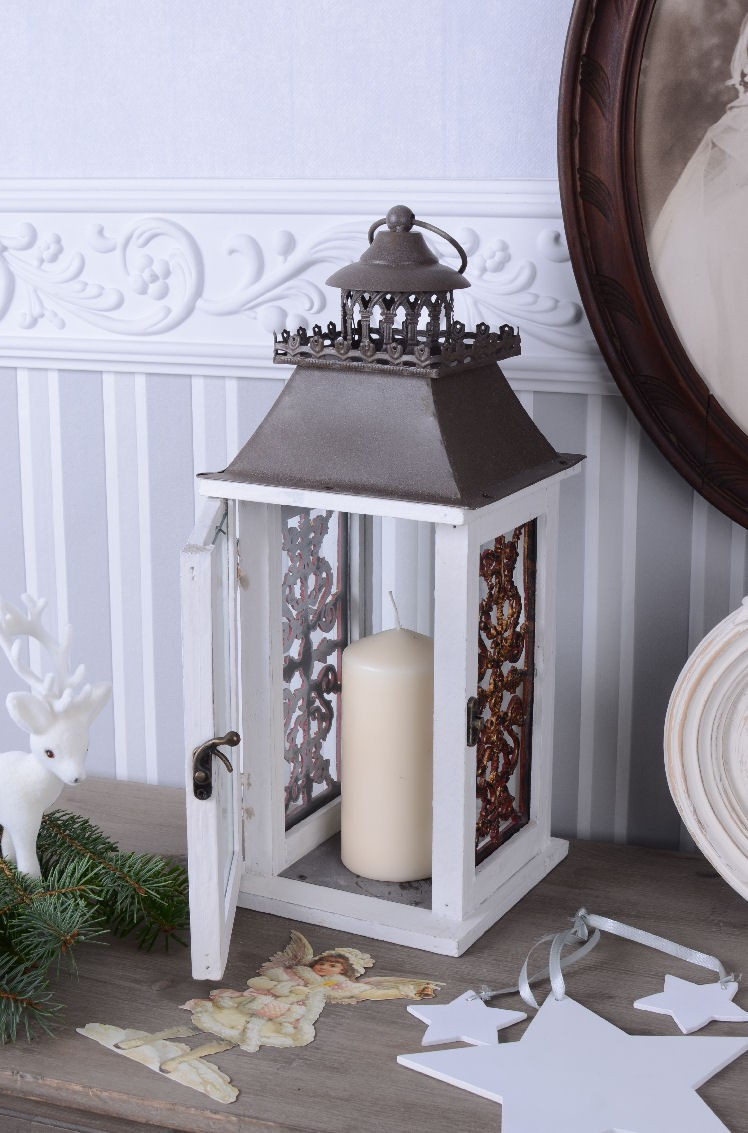 Vintage jardin lanterne style campagnard shabby chic meubles palazzo24 - Style campagnard chic ...