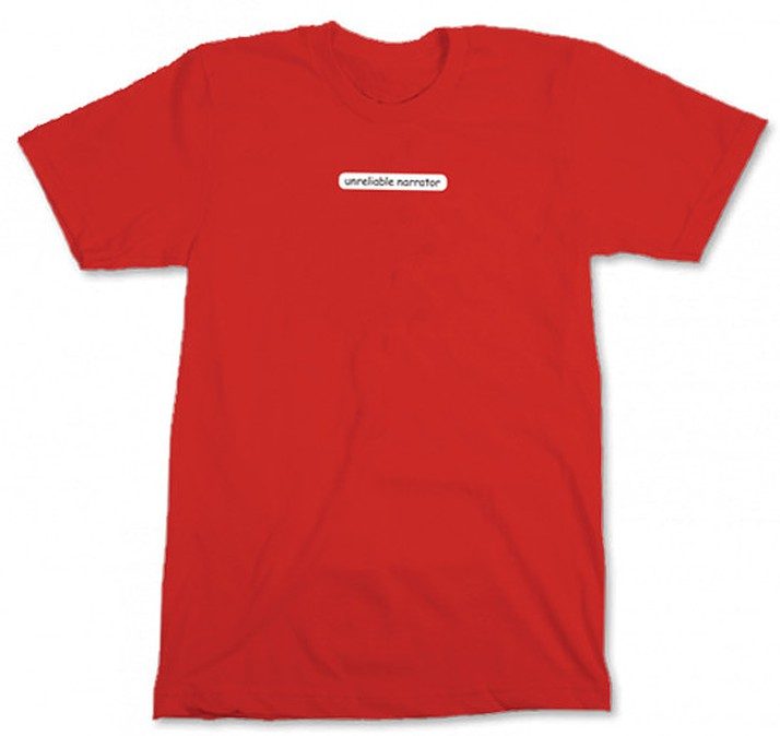 unreliable narrator tee shirt
